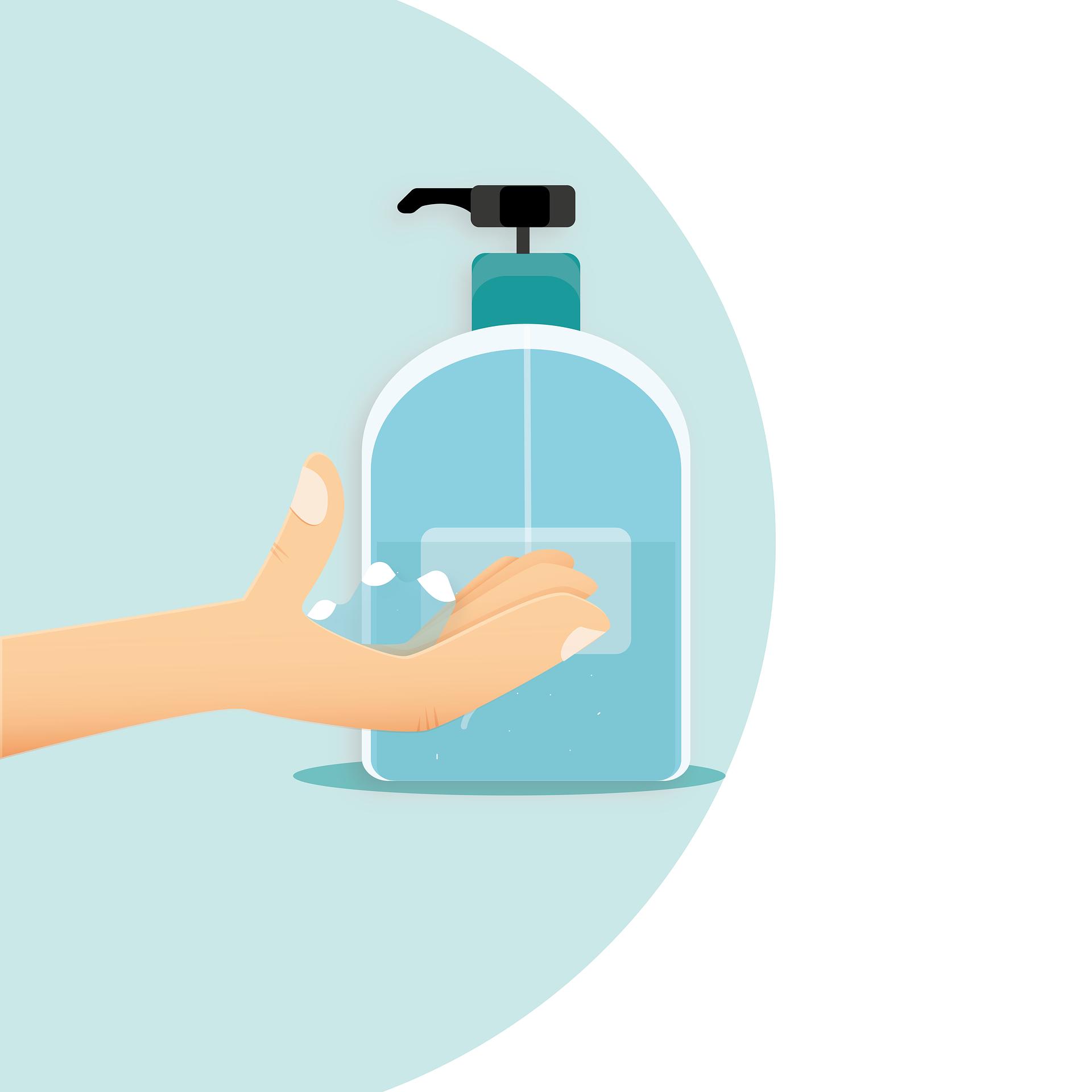 Desinfectiehanddispenser – Voorkomt de verspreiding van ziektekiemen en bacteriën naar andere delen van het lichaam